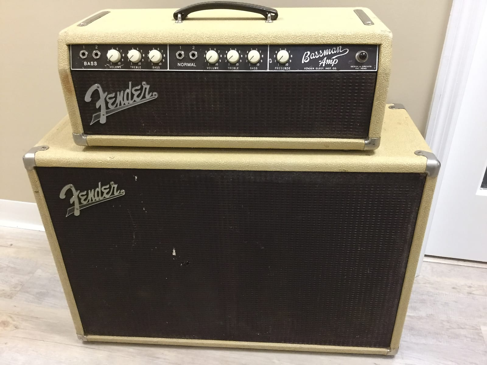 Fender Bassman Head and Cabinet 1962 2x12