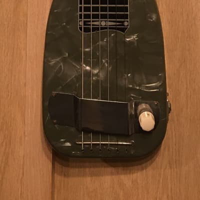 Leilani Lap Steel Guitar 50's Black Pearloid for sale
