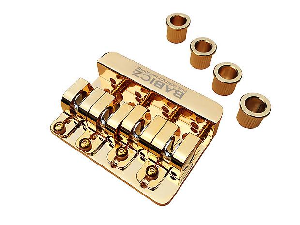 babicz full contact hardware 4 string bass bridge string thru reverb. Black Bedroom Furniture Sets. Home Design Ideas