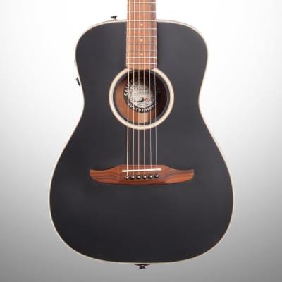 Fender Malibu Special Small Acoustic-Electric Guitar (with Gig Bag), Matte Black, Blemished