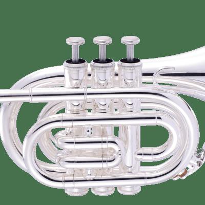 John Packer JP159S Key of Bb Pocket Trumpet w/Protective Case, Mouthpiece, Strap, Valve Oil & Guide