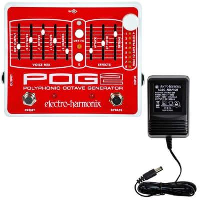 Electro Harmonix POG 2 w/ Power Supply Polyphonic Octave Generator Pedal