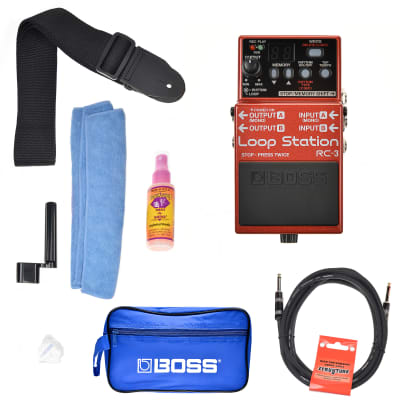 Boss RC-3 Loop Station Boss Promo Accessories Bundle