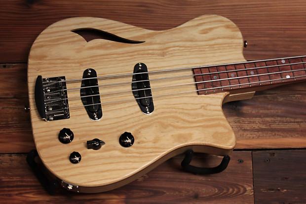 Rice Custom Guitars 176 Natural Osprey Bass With Mono Vertigo Case