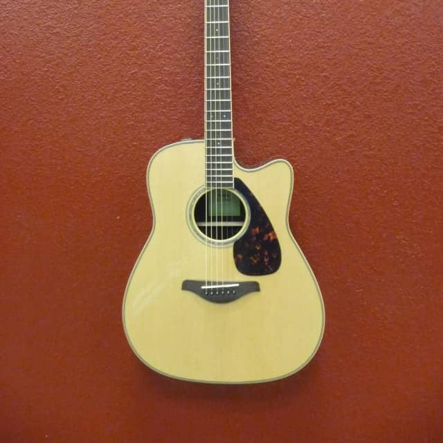 Yamaha FGX830C  Natural, Dreadnought Guitar, w/Electronics image
