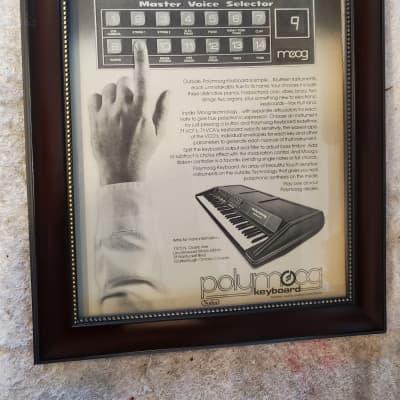 1979 Moog Synthesizers Promotional Ad Framed Moog Polymoog Original