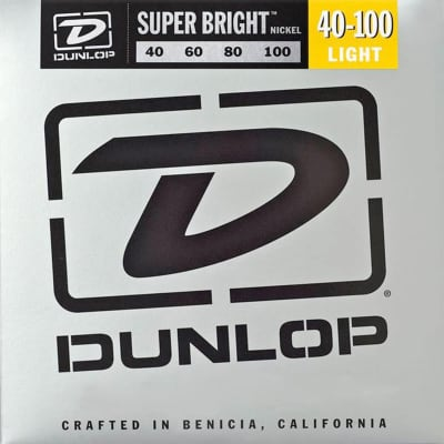 Dunlop - DBSBN40100 - Super Bright Nickel Plated Steel Bass 4 String Set, .40-.100