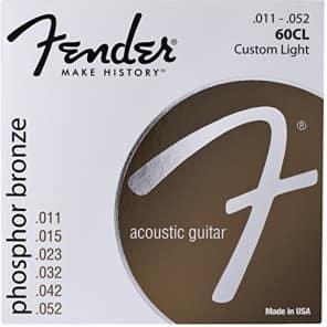 Fender 60CL Phosphor Bronze Acoustic Guitar Strings - CUSTOM LIGHT 11-52 for sale