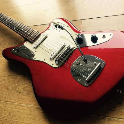 Fender Jaguar 1966 RI Old Candy Apple Red w/ Matching Headstock 2007 for sale