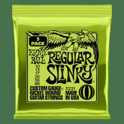 Ernie Ball Regular Slinky Nickel Wound Electric Guitar Strings 3 Pack - 10-46 Gauge