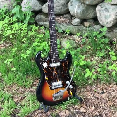Sweet 1965 Guyatone Bradford 6-string MIJ from W. T. Grant with HSC  Sunburst for sale