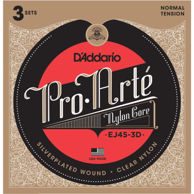 D'Addario EJ45-3D strings for classical guitar (3 sets) for sale