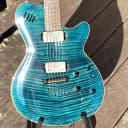 Godin LGX 2002 Transparent Blue Flamed Maple Top Electric Guitar