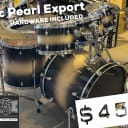 Pearl  Export 6pc with stands and hardware
