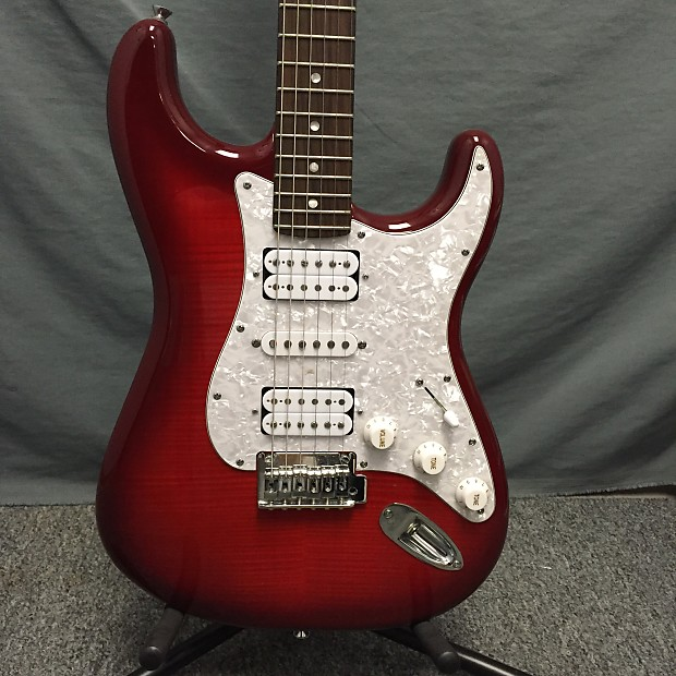 squier deluxe stratocaster hsh w flame maple top reverb. Black Bedroom Furniture Sets. Home Design Ideas