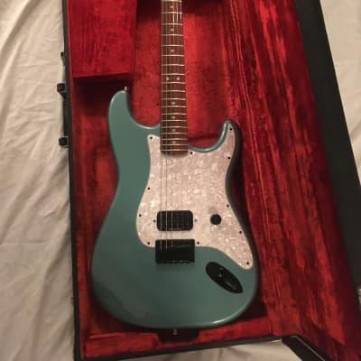 Tom Delonge Teal Green Metallic Custom Fender Stratocaster Hardtail w/ Case for sale