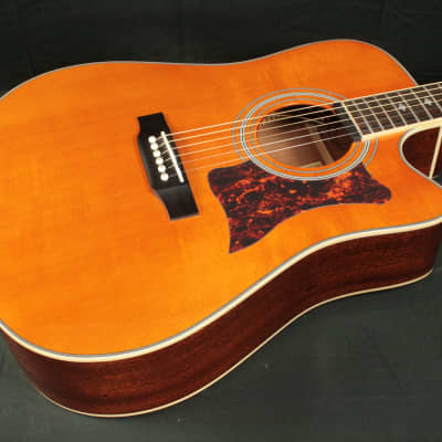Epiphone DR-500 MCE Natural with nice hard shell case