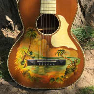 1920s Stromberg-Voisinet (Kay) Hawaiian Themed Parlor Guitar - Very Cool! for sale