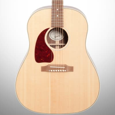 Gibson J-45 Studio Acoustic-Electric Guitar, Left Handed (with Case), Antique Natural