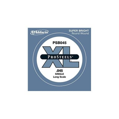 D'Addario Pro Steels Wound Single Bass String PSB045