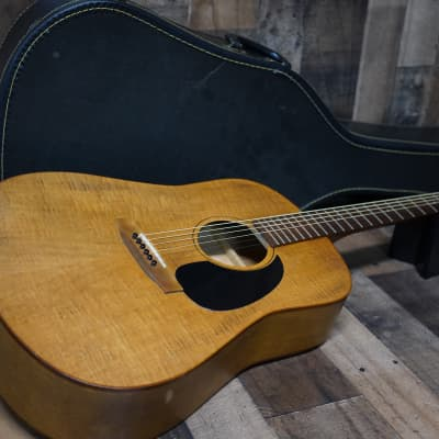 Minstrel Acoustic Guitar 1980s Wild Cherry Flame Top Pre Seagul Rare Made in Canada Vintage for sale