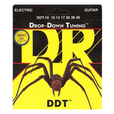 DR Strings DDT-10 Nickel Plated Electric Guitar Strings, Medium