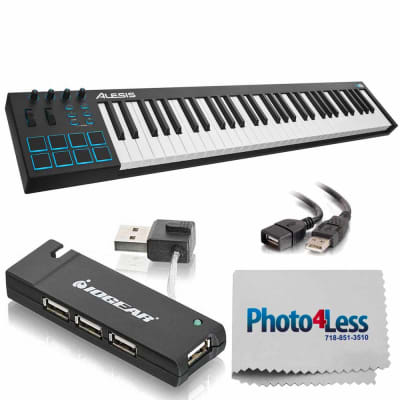 Alesis V61 | 61-Key USB MIDI Keyboard & Drum Pad Controller + Accessories