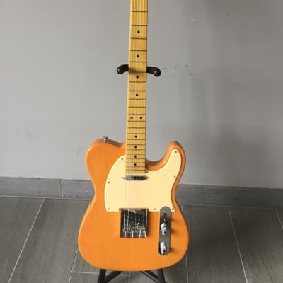 Monterey Tele Shape Electric Guitar In Transparent Caramel for sale