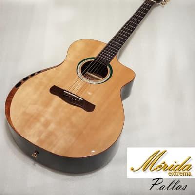 Merida Pallas Solid Engelmann Spruce & Rosewood Grand Concert Cutaway acoustic guitar for sale