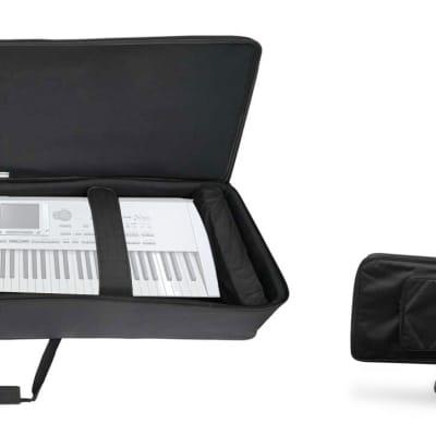 Rockville 88 Key Slim Padded Rigid Keyboard Gig Bag Case For KORG Pa1X PRO ELITE
