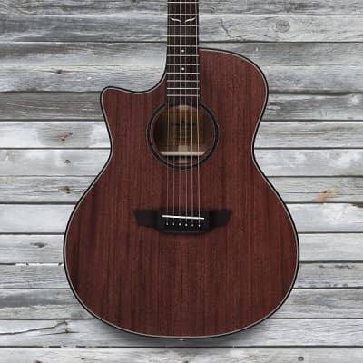 Orangewood Morgan Mahogany Solid Top Cutaway Left Handed Acoustic-Elecrtic Guitar w/ Fishman EQ for sale