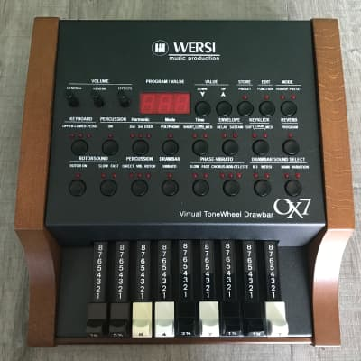Wersi OX7 Organ sound module with drawbars.
