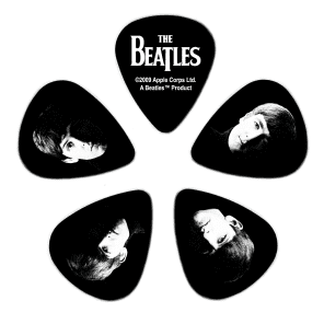 D'Addario 1CBK4-10B2 The Beatles Signature Guitar Picks - Medium (10-Pack)