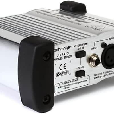 Behringer Ultra-DI DI100 1-channel Active Microphone / Instrument Direct DI Box