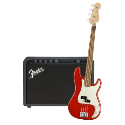 Fender Player Precision Bass Sonic Red Pau Ferro  & Fender Rumble 25 Bundle for sale