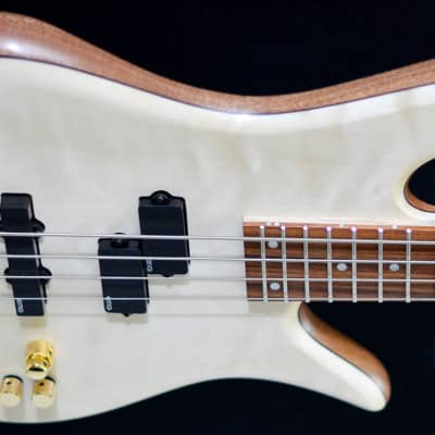 Fodera Monarch Deluxe 4 2018 Ivory Wood top for sale