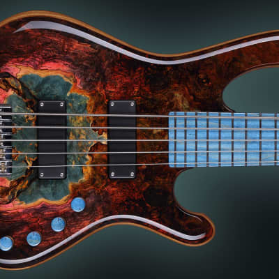 KD Saturn Stabilized wood  Boutique Unique Handcrafted Bass SN#006 for sale