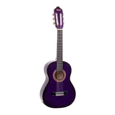 Valencia VC102PPS 1/2 Size Classical Guitar - Purple Sunburst for sale