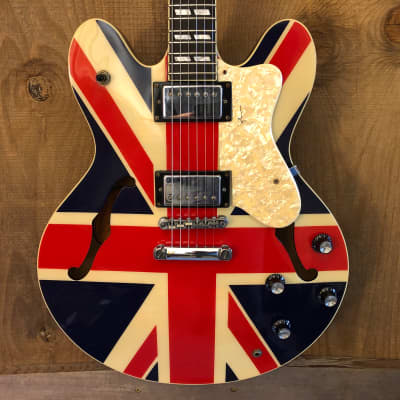 Epiphone Supernova Noel Gallagher MIK Semi-Hollow Union Jack 2005 Korea for sale