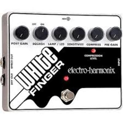Electro-Harmonix White Finger Analog Optical Compressor Pedal. Brand New!