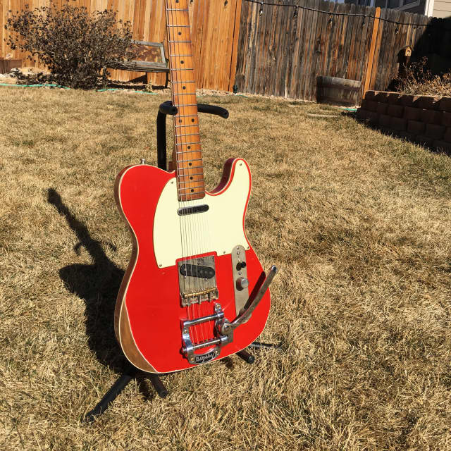 Custom Telecaster by McGibney Guitars  2018 Aged Fiesta Red image