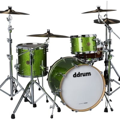 "Ddrum Dios Maple Emerald Green Sparkle 3pc Shell Pack 20"",12"",14"""
