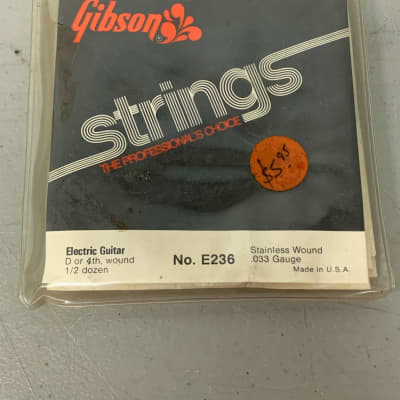 """Gibson E236 Electric """"D"""" Strings Case Candy 1960's Vintage USA"""