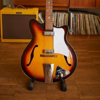 Guyatone Musician SG-SO2 1960s sunburst hollow body for sale