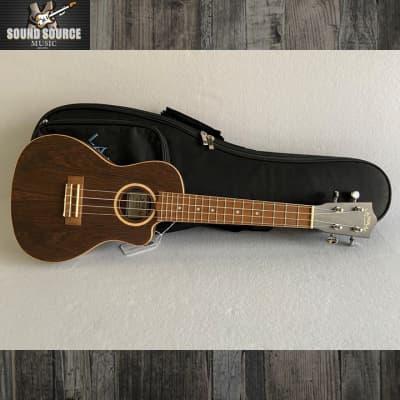 Lanikai Lanikai Figured Bocote Thin Body Concert Ukulele, Acoustic-Electric for sale