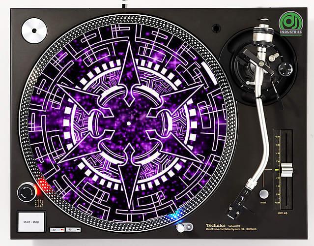 DJ Industries - Portal Warp - DJ slipmat for vinyl LP record player  turntable