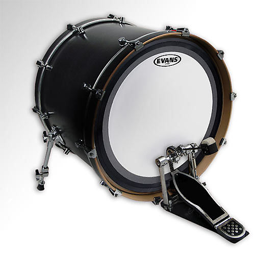 """Evans 22/"""" Clear EMAD2 Batter Bass Drumhead"""