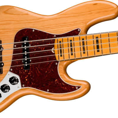 Fender American Ultra Jazz Bass V, Maple Fingerboard, Aged Natural for sale