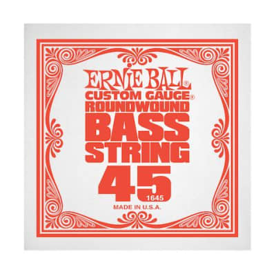Ernie Ball 1645 45 Roundwound Bass Single String