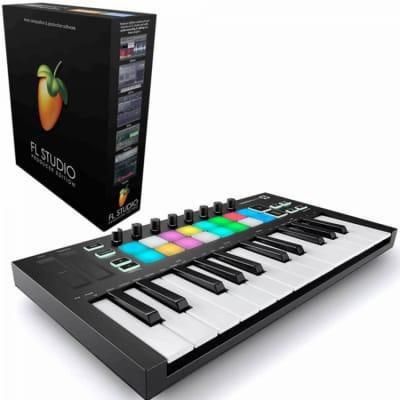 Novation Launchkey Mini 25-Mini-Key USB Keyboard Controller Bundled With FL Studio Producer Edition